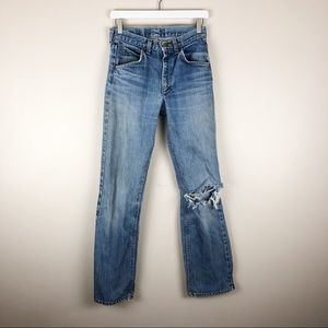 Vintage High Waisted Lee Jeans Distressed Ripped